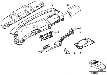 Deckel Instrumententafel Airbag DUNKELBEIGE     5er  (51457141388)