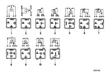 Relais Schliesser weissgrün  1er  3er 5er 6er 7er 8er X3 X5 X6 Z1 Z3 Z4 Z8  (61368373700)