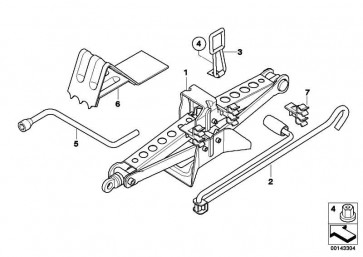 Gelenkwagenheber Stahl  X3  (71103403150)