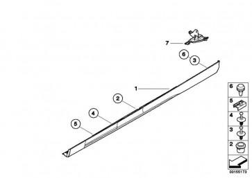 Schwellerleiste links grundiert M               3er  (51712693225)