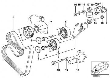 Sechskantschraube mit Scheibe M8X35-Z1 3er 5er 7er 8er X5  (07119901686)