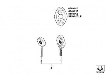 Service/Reserveschlüssel (Code)  5er 6er  (51217118971)