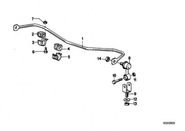 Gummilager Stabilisator D=20MM          3er  (31351129139)
