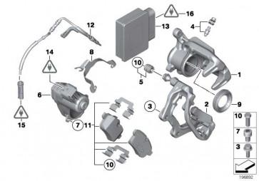Reparatursatz Bremsbeläge asbestfrei  5er X3 Z4  (34216796741)