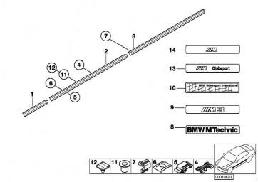 Stossleiste Seitenwand vorne rechts  3er  (51131977604)
