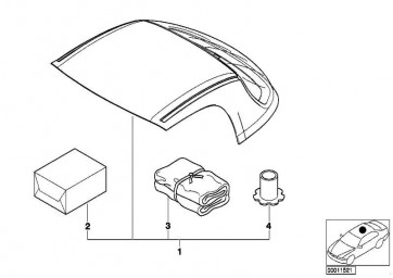 Nachrüstsatz Vorbereitung Hardtop  Z3  (54219408699)