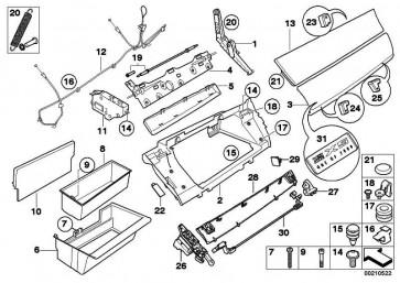 Deckel Handschuhkasten unten PIANOLACK       X5 X6  (51459211010)