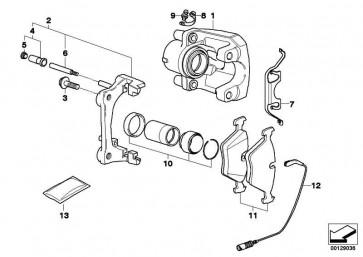 Reparatursatz Bremsbeläge asbestfrei  X3  (34213403241)