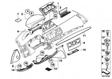 Ablagefach Instrumententafel Fahrerseite SCHWARZ         1er  (51456982670)