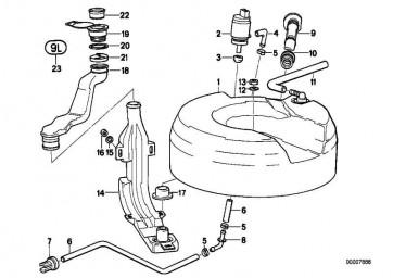 Schlauchleitung D= 10MM         1er 3er 5er 7er 8er X1 X3 X5 Z3 Z8  (61671379530)