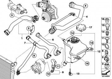 Schraubverschluss Ausgleichbehälter  1er 3er 5er 6er 7er X1 X3 X5 X6 Z4  (17117521071)