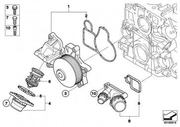 Austausch Kühlmittelpumpe mechanisch  1er 3er 5er X1 X3  (11517807311)