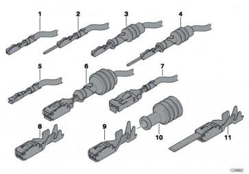 Gummitülle ELO-Power 2,8x 0,63 0,1- 2,5MM ²    1er 3er 5er 6er 7er 8er X1 X3 X5 X6 Z3 Z4 Z8 MINI  (61138372626)