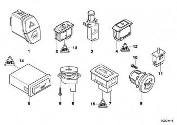 Schalter Gepäckraumentriegelung  1er 3er 5er 6er 7er X1 X3 Z4  (61319200316)