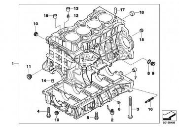 Zylinder-Kurbelgehäuse mit Kolben  1er 3er X3 Z4  (11117536184)