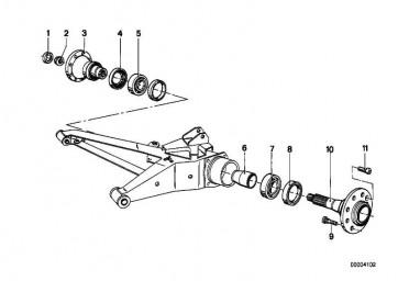Sicherungsblech  3er 5er Z1 Z3  (33411124945)