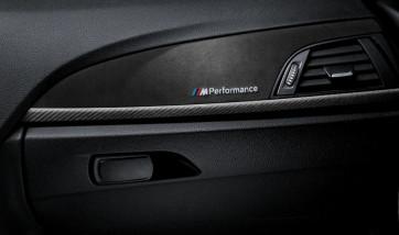 BMW M Performance Interieurleisten Carbon/Alcantara 1er F21 2er F22 M2 F87