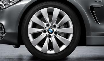 BMW Alufelge V-Speiche 413 silber 7,5J x 17 ET 37 Vorderachse / Hinterachse 3er F30 F31 4er F32 F33 F36