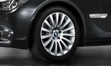 BMW Alufelge Vielspeiche 235 silber 8,5J x 19 ET 25 Vorderachse 5er F07 7er F01 F02 F04