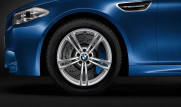 BMW Alufelge M Doppelspeiche 408 silber 9J x 19 ET 25 Hinterachse M5 F10 M6 F06 F12 F13