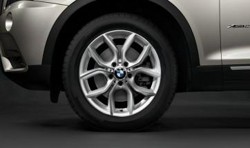 BMW Alufelge Y-Speiche 308 silber 8J x 18 ET 43 Vorderachse / Hinterachse X3 F25 X4 F26