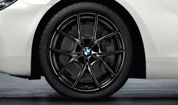 BMW Alufelge V-Speiche 356 liquid black 8,5J x 20 ET 33 Vorderachse 5er F10 F11 6er F06 F12 F13