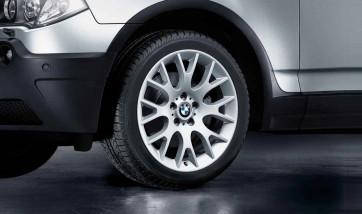 BMW Alufelge Kreuzspeiche 145 silber 8,5J x 19 ET 46 Vorderachse X3 E83