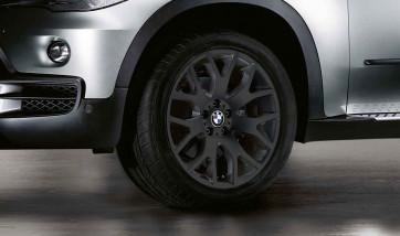 BMW Alufelge Kreuzspeiche 177 schwarz 8,5J x 18 ET 46 Vorderachse / Hinterachse X5 E70 F15