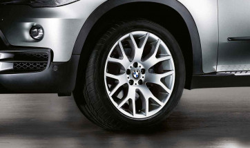 BMW Alufelge Kreuzspeiche 177 silber 10J x 19 ET 53 Hinterachse X5 E70 F15