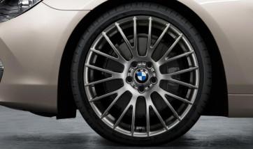 BMW Alufelge Kreuzspeiche 312 ferricgrey 9J x 20 ET 44 Hinterachse 5er F10 F11 6er F06 F12 F13