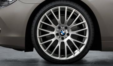 BMW Alufelge Kreuzspeiche 312 silber 8,5J x 21 ET 25 Vorderachse 5er F07 7er F01 F02 F04