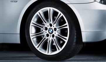 BMW Alufelge M Doppelspeiche 135 silber 8J x 18 ET 47 Vorderachse 3er E46 Z4 E85 E86