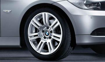 BMW Alufelge M Doppelspeiche 194 8,5J x 17 ET 37 Silber Hinterachse BMW 3er E90 E91 E92 E93