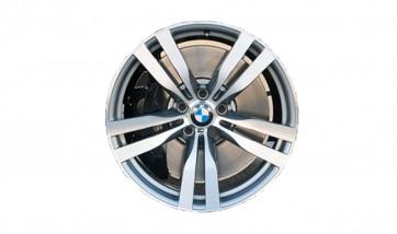 BMW Alufelge M Doppelspeiche 300 bicolor (schiefergrau / glanzgedreht) 10J x 20 ET 40 Vorderachse X5 E70 X6 E71