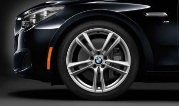 BMW Alufelge M Doppelspeiche 303 8,5J x 20 ET 25 Silber Vorderachse BMW 5er F07 7er F01 F02 F04