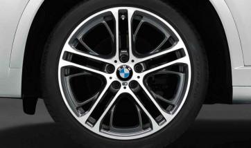 BMW Alufelge M Doppelspeiche 310 bicolor (orbitgrey / glanzgedreht) 8,5J x 20 ET 38 Vorderachse X3 F25 X4 F26