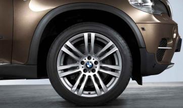 BMW Alufelge M Doppelspeiche 333 bicolor (spacegrau / glanzgedreht) 10J x 20 ET 40 Vorderachse X5 E70