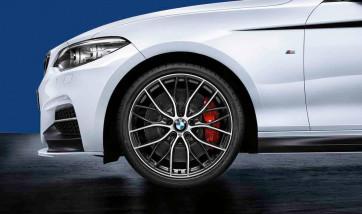 BMW Kompletträder M Doppelspeiche 405 bicolor (orbitgrey / glanzgedreht) 19 Zoll 1er F20 F21 2er F22 F23 RDCi (Mischbereifung)