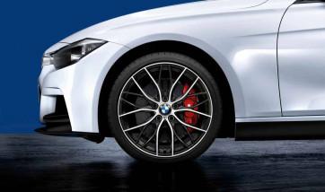 BMW Kompletträder M Doppelspeiche 405 bicolor (orbitgrey / glanzgedreht) 20 Zoll 3er F30 F31 4er F32 F33 F36 (Mischbereifung)