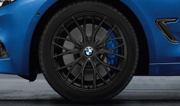 BMW Winterkompletträder M Doppelspeiche 405 schwarz matt 18 Zoll 3er F31 4er F33 RDCi
