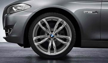 BMW Alufelge M Doppelspeiche 434 ferricgrey 8,5J x 20 ET 33 Vorderachse 5er F10 F11 6er F06 F12 F13