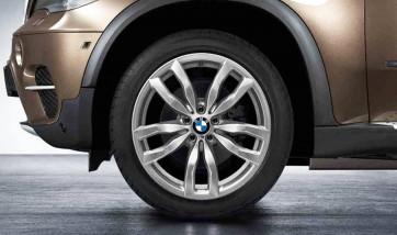 BMW Kompletträder M Doppelspeiche 435 silber 20 Zoll X6 E71