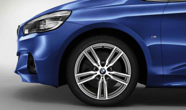 BMW Alufelge M Doppelspeiche 486 bicolor (ferricgrey / glanzgedreht) 8J x 18 ET 57 Vorderachse / Hinterachse 2er F45 F46
