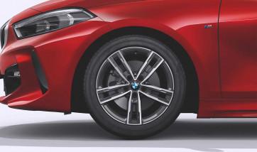 BMW Kompletträder M Doppelspeiche 550 bicolor (ferricgrey / glanzgedreht) 17 Zoll 1er F40 2er F44 RDCi