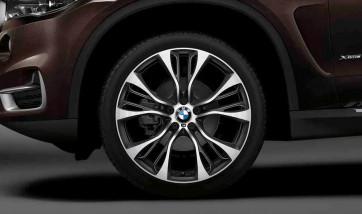 BMW Alufelge M Doppelspeiche 599 bicolor (schwarz / glanzgedreht) 8,5 J x 21 ET 42 Vorderachse X3 F25 X4 F26