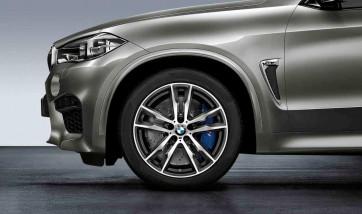 BMW Alufelge M Doppelspeiche 611 bicolor (orbitgrey / glanzgedreht) 10J x 20 ET 40 Vorderachse X5M F85 X6M F86