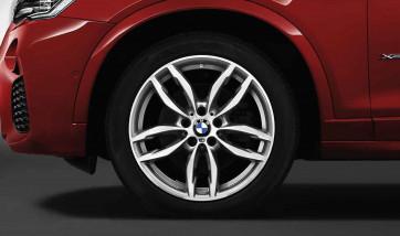 BMW Kompletträder M Doppelspeiche 622 bicolor (ferricgrey / glanzgedreht) 19 Zoll X3 F25 X4 F26 (Mischbereifung)