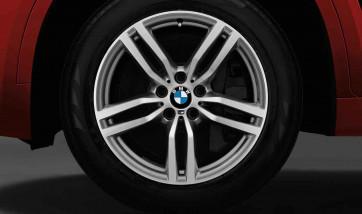 BMW Winterkompletträder M Doppelspeiche 623 bicolor (ferricgrey / glanzgedreht) 19 Zoll X6 F16 RDCi (Mischbereifung)