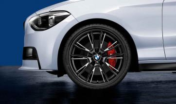 BMW Kompletträder M Doppelspeiche 624 bicolor (jet black matt / glanzgefräst) 19 Zoll 1er F20 F21 2er F22 F23 (Mischbereifung)