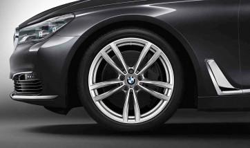 BMW Winterkompletträder M Doppelspeiche 647 bicolor (ferricgrey / glanzgedreht) 19 Zoll 6er G32 7er G11 G12 RDCi